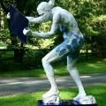 Blue Mirror Woman - Cast for sculptor Bob Clyatt