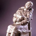 Mother and Child - Bonded Aluminum - Cast for Sculptor Tony Padovano